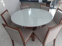 Título do anúncio: Mesa redonda cadeiras de madeira maciça