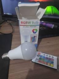 Lâmpada 15W RGB com controle remoto