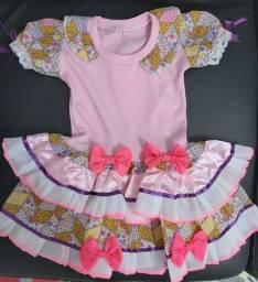 Vestido Caipira Infantil Festa Junina
