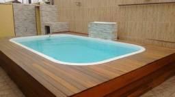 Casa c/piscina a 100m da praia Locação por Diárias