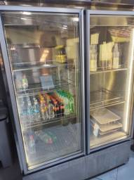 Freezer inox duas portas
