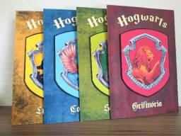 Kit com 4 Placas decorativas Hogwarts