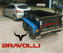Carretinha 2 eixos da BRAVOLLI ' Pronta e com Garantia