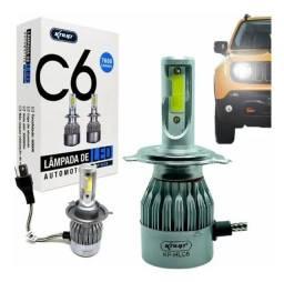 Lampadas Led H4 Automotiva Ultra Led Forte 7600 Lumens Knup