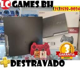 PS3 Destravado +1500JOGOs +03 Meses Garantia