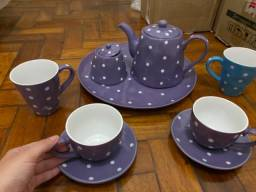 Conjunto porcelana para chá Pétit poá Maxwell & Williams