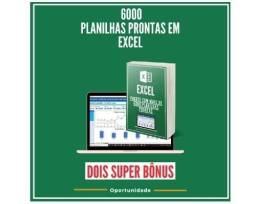 Curso-Excel 6000 Planilhas editáveis