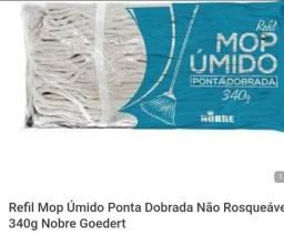 Refil mop úmido ponta dobrada algodão  340g