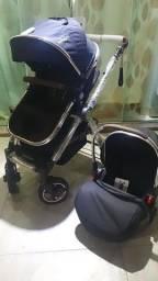 ?Carrinho de bebê Moisés 3 em 1 novo estrutura de alumínio