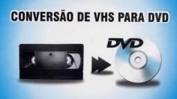 Vhs para dvd e formatos digitais