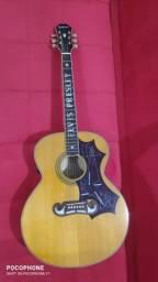 RARO Violão Epiphone by Gibson EJ200E Signature Elvis Presley!