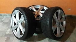 Rodas 20 New Santorini com pneus Delinte