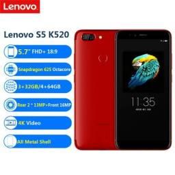 Lenovo S5 64G+4GB RAM cor Vermelho