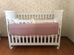 Berço mini cama Mali da Sleeper e colchão Ortobom