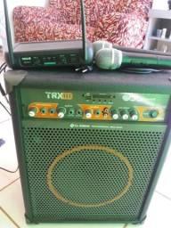 Caixa amplificada com 2 microfones
