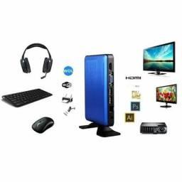 Mini Pc Desktop Com Intel Atom 32gb 2gb Ram Wifi Bluetooth.