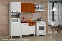 Cozinha Completa com balcão 4 Peças Granada Sallêto Móveis Pronta entrega *