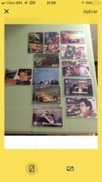 Coleção completa 12 cartões telefônicos Ayrton Senna anos 90