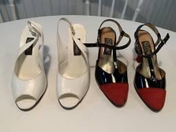 Sapato Social Couro, verniz e camurça