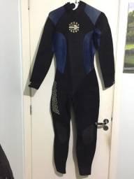 Sleeve Mormaii manga longa ziper traseiro