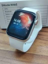 Smartwatch Iwo W46 - Bateria Boa/Troca Foto Fundo