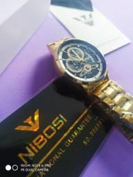 Relógio Nibosi Aviator Original Funcional