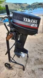 Motor 25 HP Yamaha 2 Tempos ( 2001 ) Segundo Dono