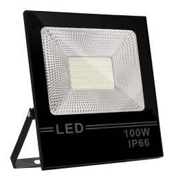 Refletor Led Holofote 100w Smd Eco Branco Frio Ip66 Novo