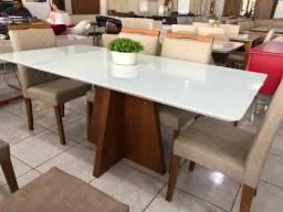 Mesa de madeira e acabamento Laka 6 completa