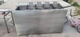 Fritadeira industrial toda em aço 304 top de linha