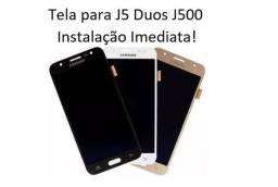 Display Completo / Tela para J5 Duos - J500 / DS - Instalação Imediata