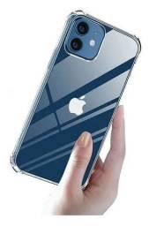 Capa antishock transparente iphone 12 12 pro e 12 pro max