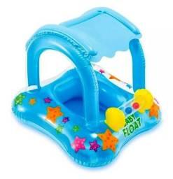 Boia De Segurança Inflável Infantil Com Proteção Contra O Sol. Para Praia E Piscina