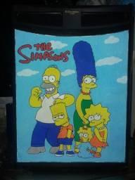Frigobar Electrolux personalizado com os Simpsons