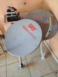02 Antenas Completas, Receptores, Conversores e Controles em Perfeitas Condiçoes