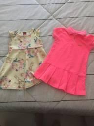 Vestidos infantis (os dois )