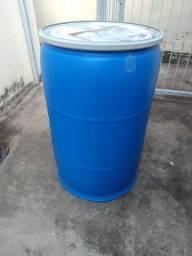 Tambor De Plastico 200 Litros Com Tampa Removivel