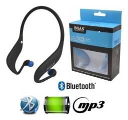 Fone Sport Bluetooth-MP3-Radio FM-Cartão de Memória LC-702