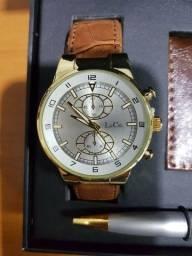 Relógio de pulso L & Co masculino  (novo na cx )