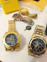 Título do anúncio: Relógios Invicta, bvlgari e Rolex