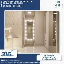 Espelho Camarim 100% MDF / Espelho + prateleiras