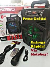Caixa Musical (Kimiso 5801B) 1000 W + Microfone - Frete Grátis!