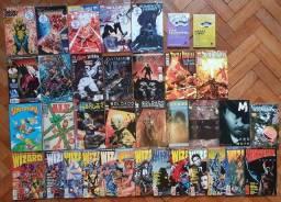 Título do anúncio: Hq Gibis Quadrinhos Wizard , Wolverine, Batman