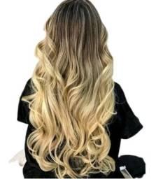 Mega Hair Fita Adesiva Loiro Mesclado 135g 50cm Cabelo Humano