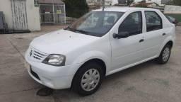 Renault Logan Authentique 1.0 16V 2008 Branco Excelente Estado.