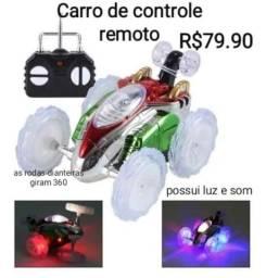 Título do anúncio: Carro de controle remoto que gira as rodas 360°
