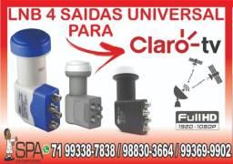 Lnb 4 Saidas Universal Banda Ku 4k Hd Lnbf Para Claro Tv