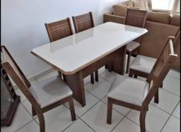 Mesa com 6 cadeiras mesa com 6 cadeiras New Charm mesa de jantar entrego e monto