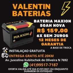 Bateria Maxion 50ah nova - Entrega Grátis - Instalação Gratuita - 6x Sem juros