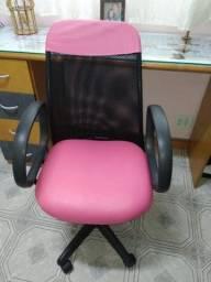 Cadeira de Escritório Preto e Rosa